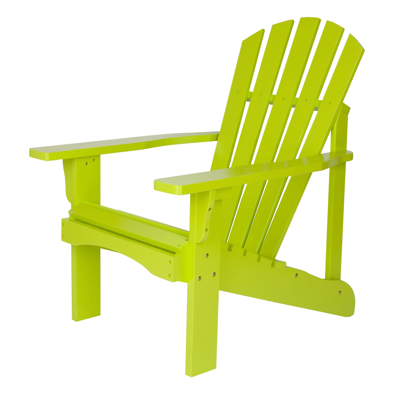 Shine Company Rockport Adirondack Chair - Lime Green