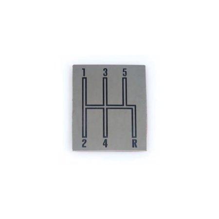 Console Indicator Shift Plate - Eckler's Premier  Products 50-241554 - Chevelle Shift Indicator Plate, Console, 5-Speed