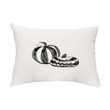 Pumpkin Duo 14x20 Inch Cream Halloween Print Decorative Outdoor Throw Pillow](Halloween Duos)