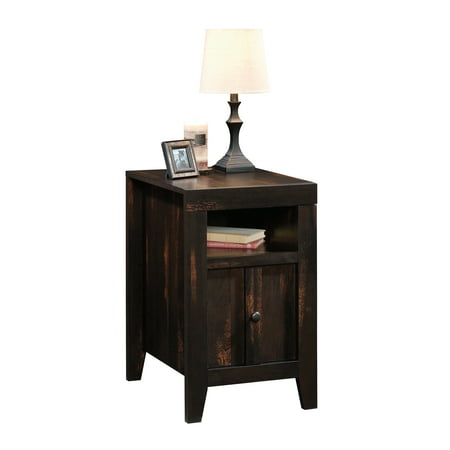 Sauder Dakota Pass End Table, Char Pine Finish