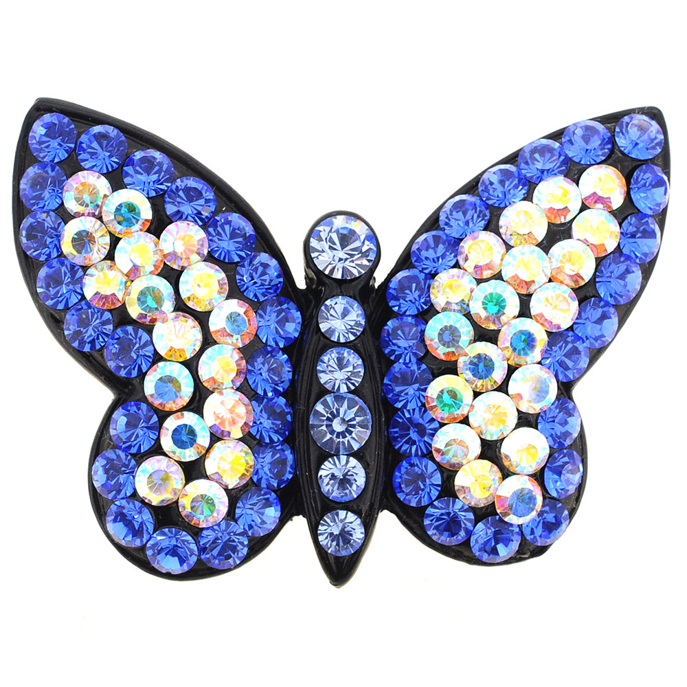 Sapphire Blue Butterfly Pin Brooch by