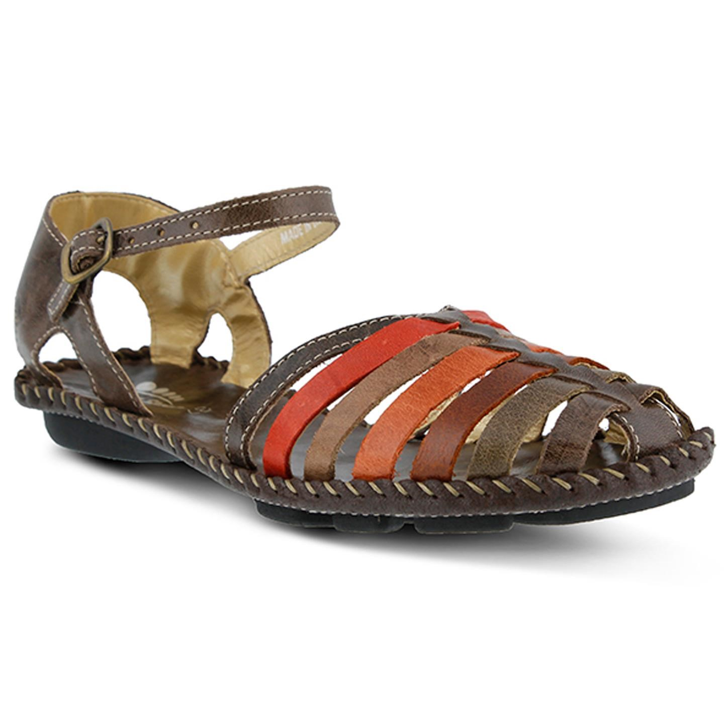 Chilton By Spring Step Brown Womens Leather Sandal 40 EU   9 US Women by Spring Step