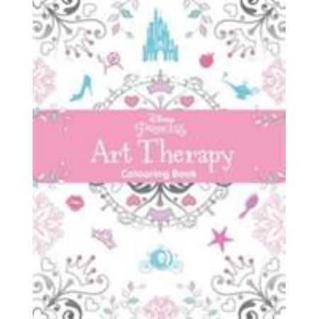Disney Princess Art Therapy Colouring Book Paperback