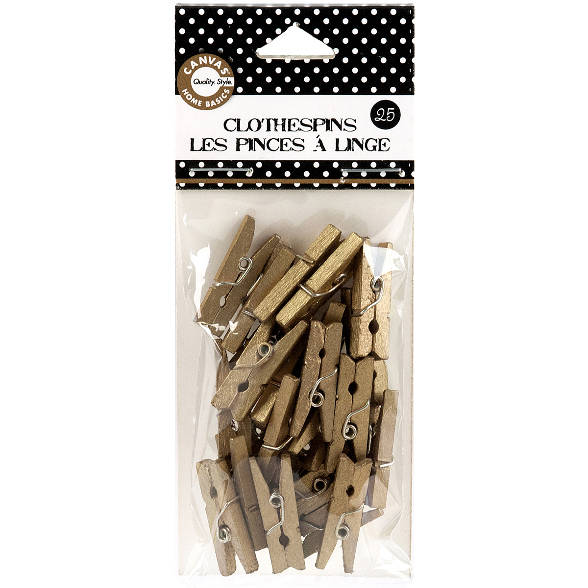 "Mini Clothespins 1"" 25/Pkg-Gold"