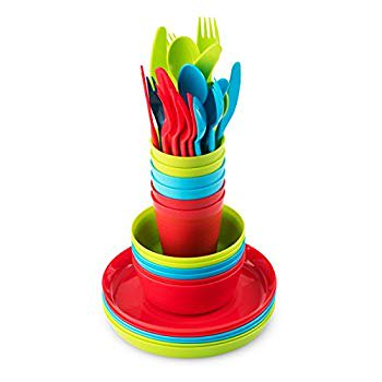 Plastic Dinnerware Set Of 6 By Plaskidy
