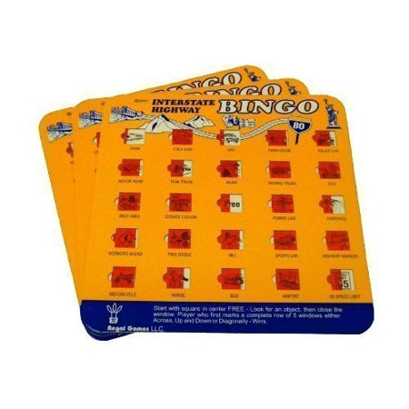 Travel Auto Roadtrip Bingo Vacation Game Family I Spy Set Of 3  Colors May Vary  By Regal Games Llc