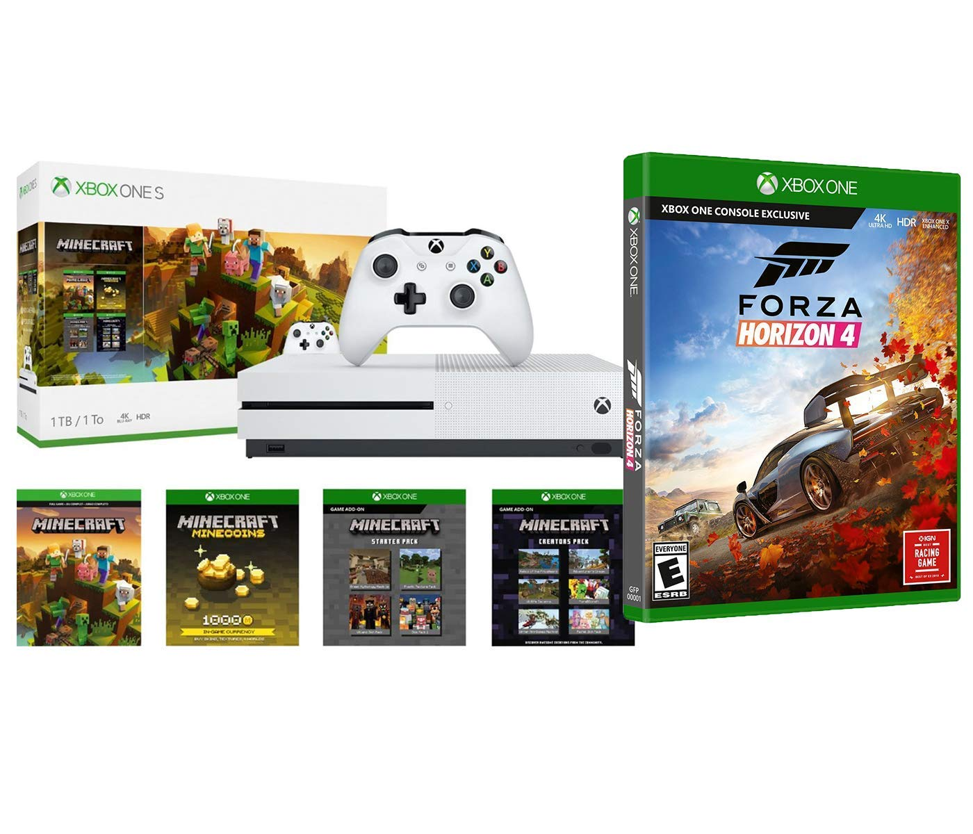 xbox oneminecraft creators with forza horizon bonus bundle. Black Bedroom Furniture Sets. Home Design Ideas