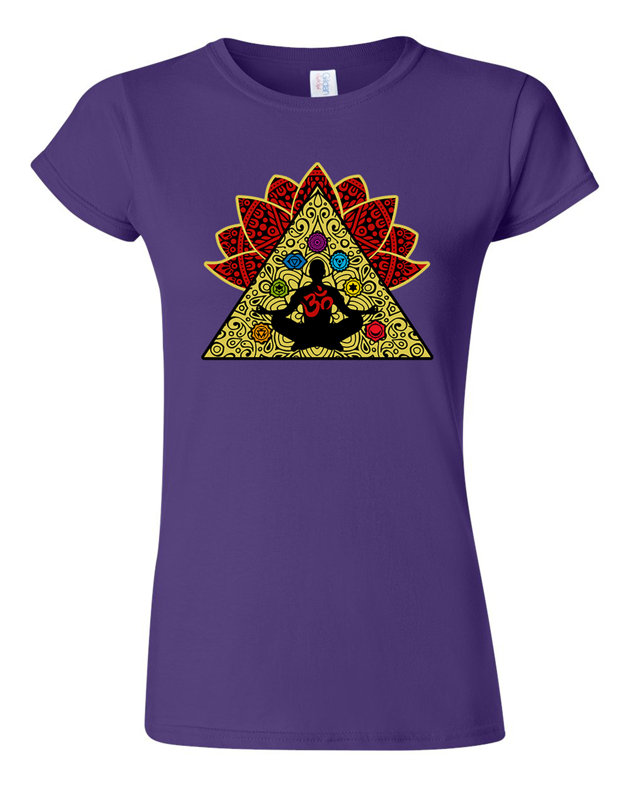 Junior Yoga Meditation Elements Relax Energy DT T-Shirt Tee