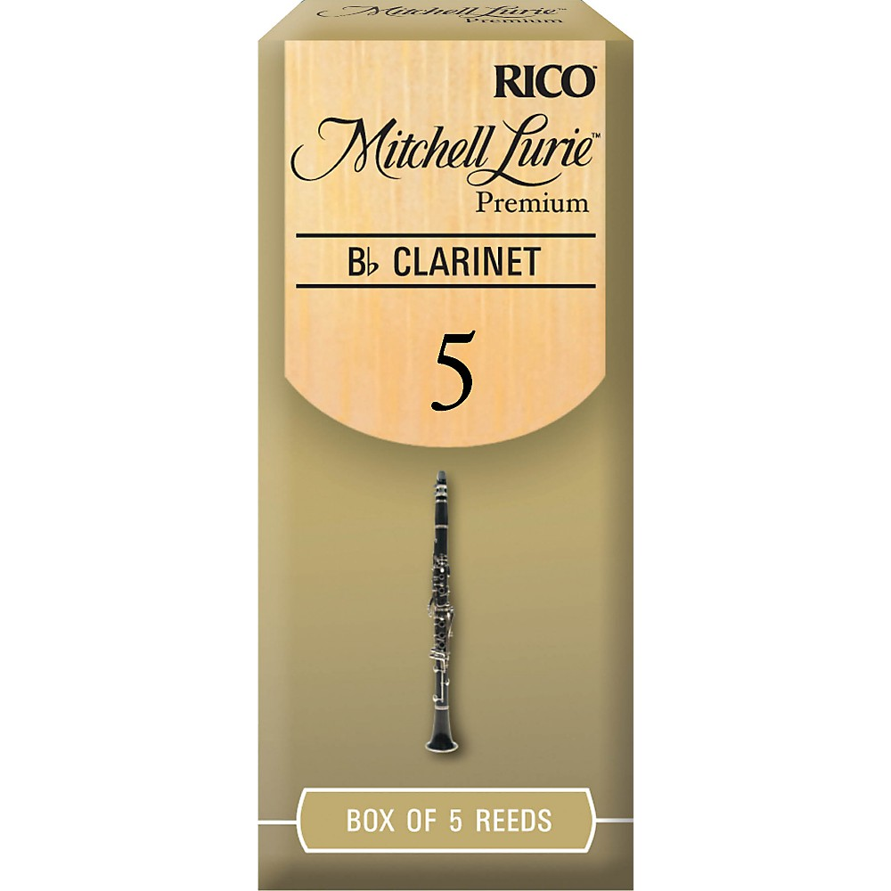 Mitchell Lurie Premium Bb Clarinet Reeds Strength 5 Box of 5 by Mitchell Lurie