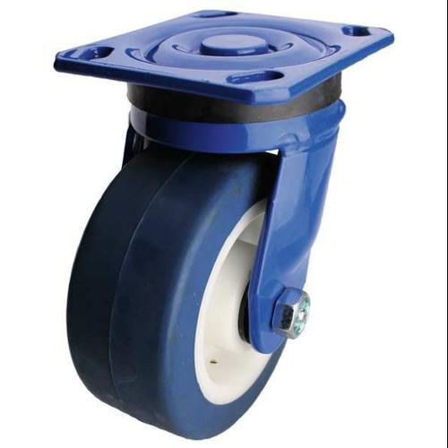 ALBION 934XA06252S-BLUGN Swivel Plate Caster, 900 lb, 6 In Dia