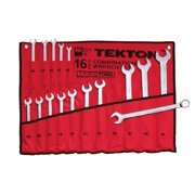 TEKTON 1938 MaxTorq Combination Wrench Set, Metric, 16-Piece Multi-Colored
