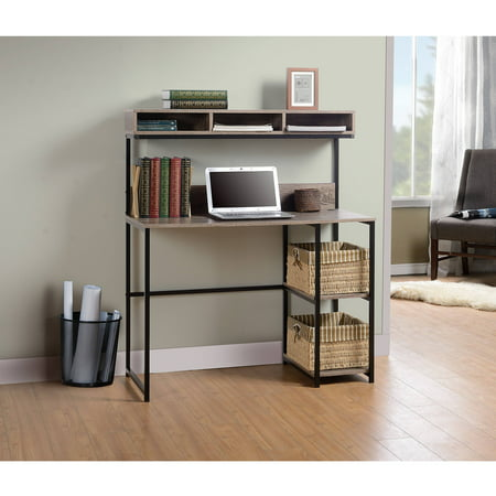 Homestar Laptop Desk with Hutch (1 Drawer Laptop Desk Reclaimed Wood Homestar)