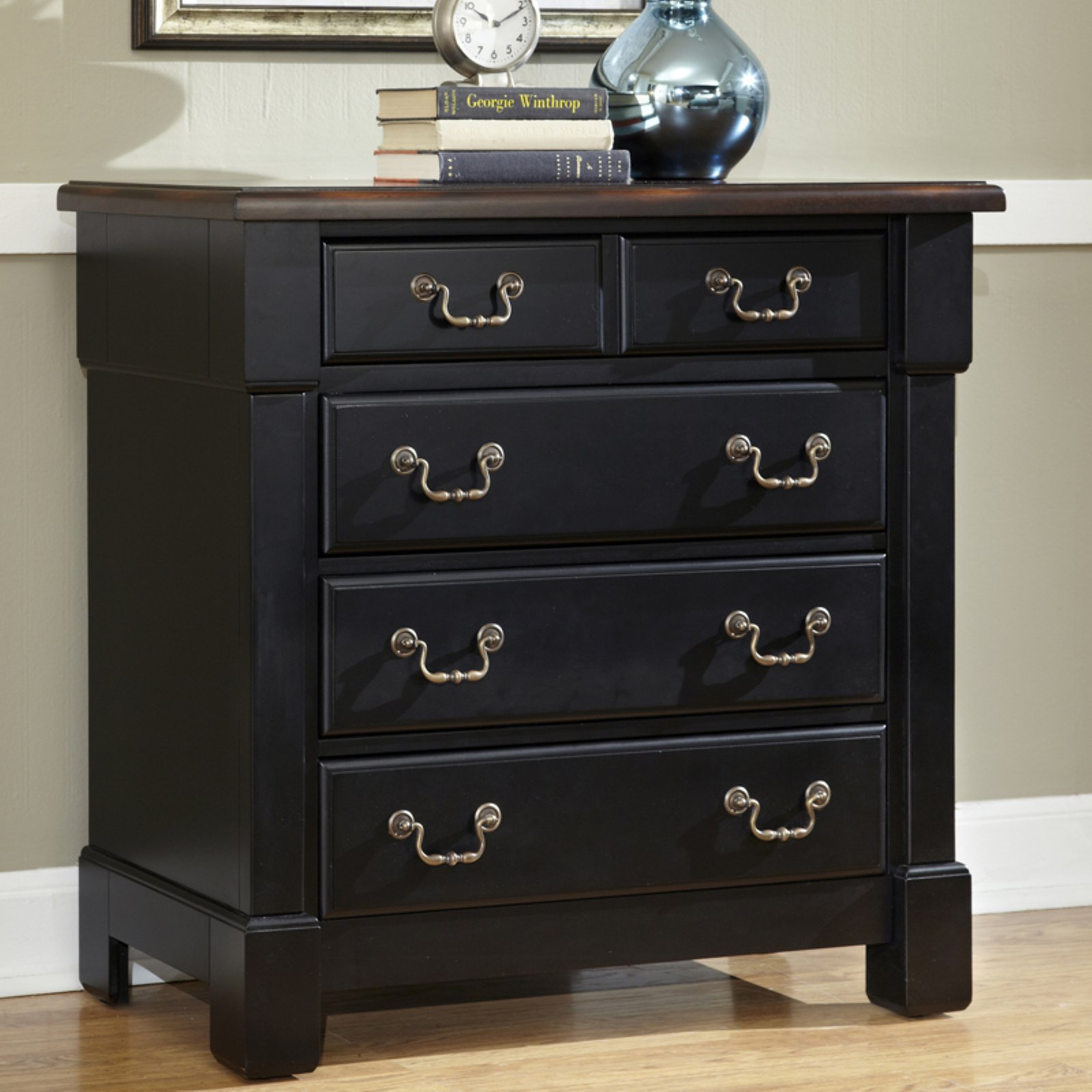 Home Styles The Aspen Collection Drawer Chest, Rustic Cherry/Black