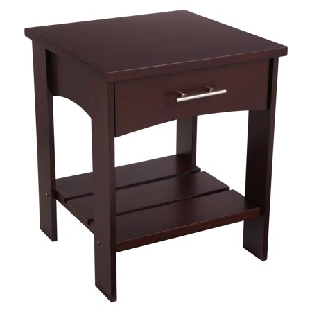 Wooden Childrens Painted Furniture - KidKraft Addison Wooden Twin Side Table with Drawer, Children's Bedroom Furniture - Espresso