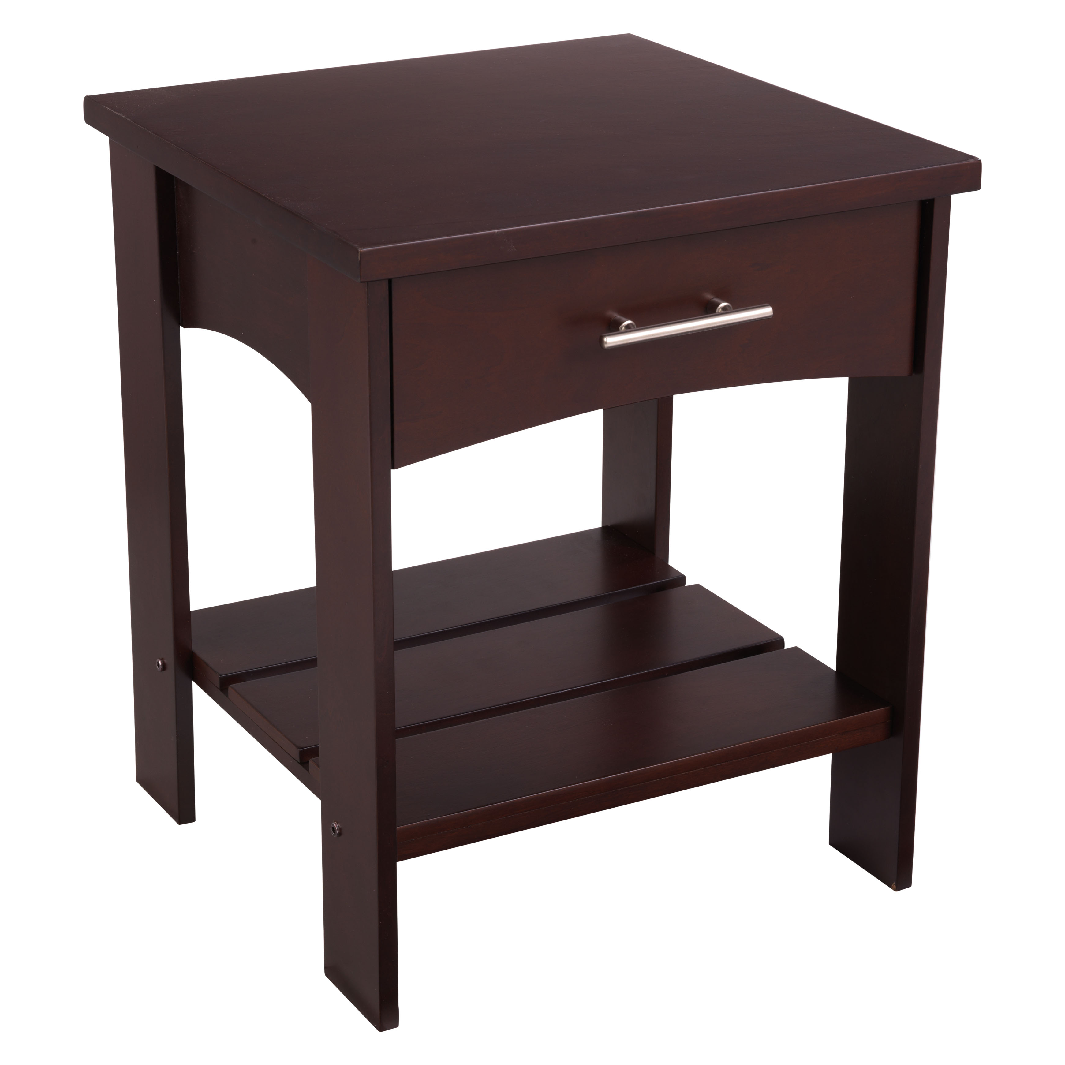 KidKraft Addison Wooden Twin Side Table with Drawer, Children's Bedroom Furniture - Espresso