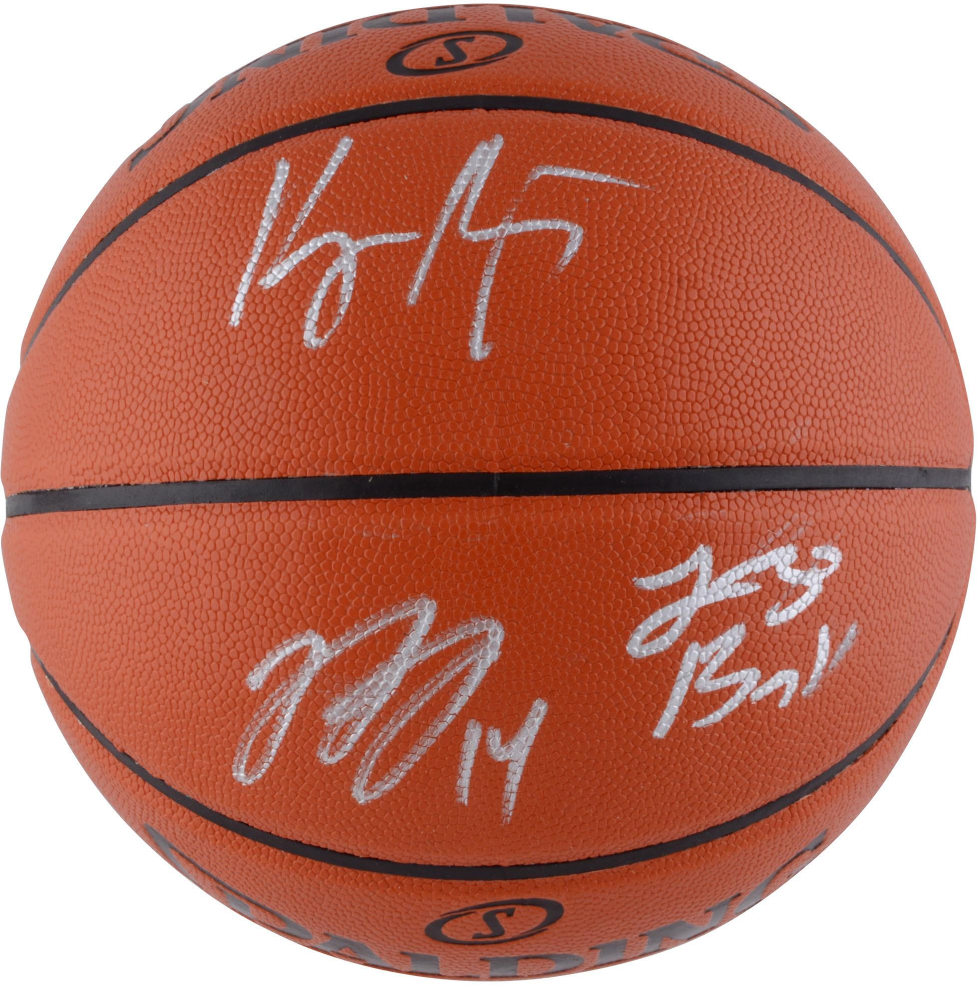 Lonzo Ball, Brandon Ingram, Kyle Kuzma Los Angeles Lakers Autographed Indoor/Outdoor Basketball - Fanatics Authentic Certified