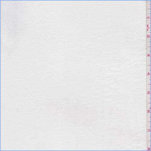 Chalk White Polyester Twill Lawn, Fabric By the Yard