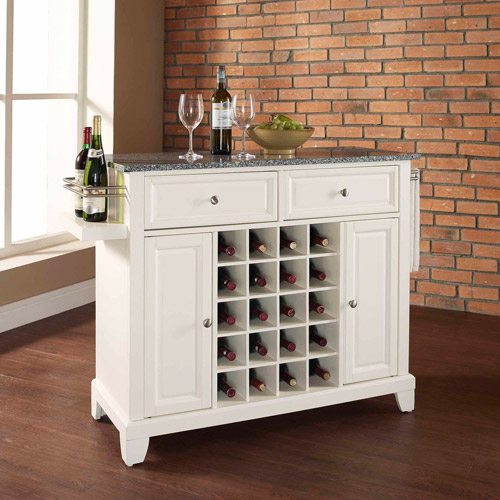 Crosley Furniture Newport Solid Granite Top Wine Island