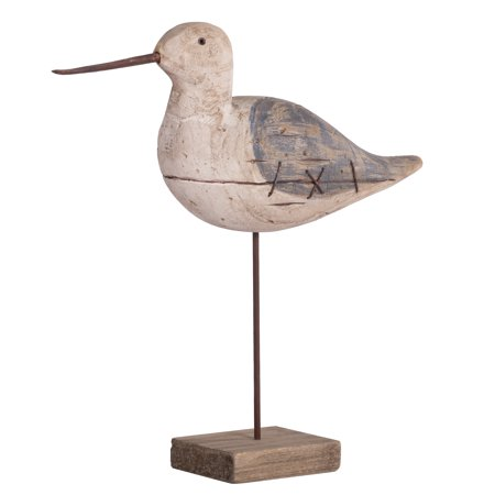 - A&B Home Carved Out Wood Bird On Stand, 13x3.5x13 inches