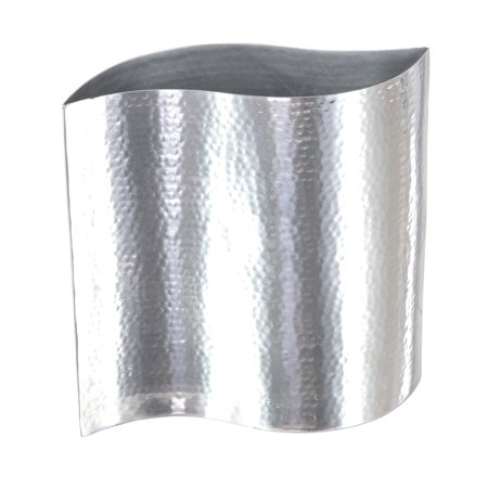 Stainless Steel Vase - Decmode Industrial 9 Inch Stainless Steel S-Shaped Decorative Vase, Silver