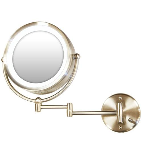 Rucci M829 10x and 1x Magnification Chrome 360 Revolving Mirror with Fluorescent Tube Wall-Mounted