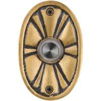 Waterwood Hardware Flower Doorbell Push Button