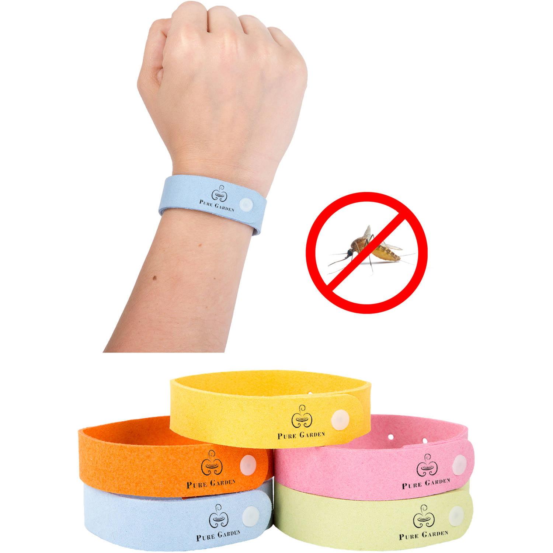 Pure Garden Mosquito Repellent Wristband, 5pk