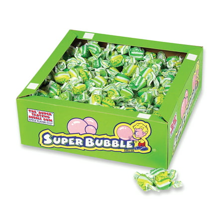Super Bubble Bubble Gum, Apple, 54 Ounce Box