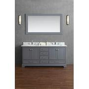 Double Sink Bathroom Vanity in Gray