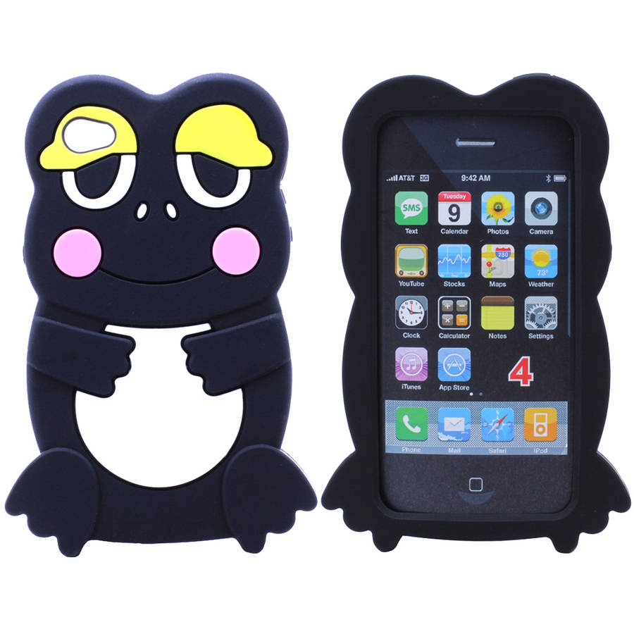 KIKO Wireless iPhone 4S / 4 3D Frog Case Funny Amusing Cartoon Design Impact Resistant Drop Protection Anti Scratch Soft Silicone Rubber for Apple iPhone 4S / 4