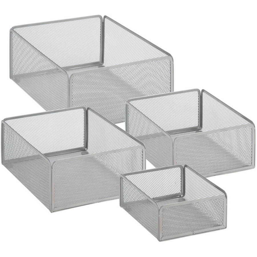 Honey Can Do Steel Wire-Mesh Baskets, Multiple Colors (Set of 4)