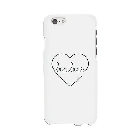 Best Babes-Right White Best Friend Matching Phone Case For iPhone (Best Phone For Kids)