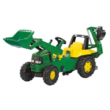 Rolly Toys John Deere Ride On Pedal Powered Tractor Loader with Working Backhoe