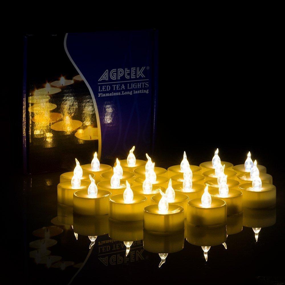 100 battery operated led amber flameless flickering flashing tea