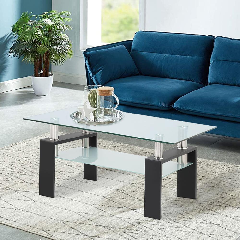 living room glass coffee table sturdy modern side coffee
