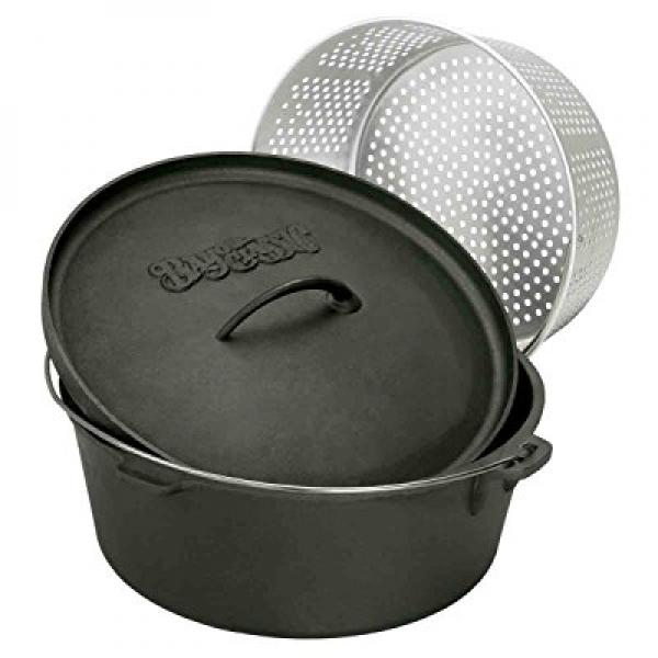 Bayou Classic 7460 Dutch Oven with Basket, 8-1 2-Quart by Barbour