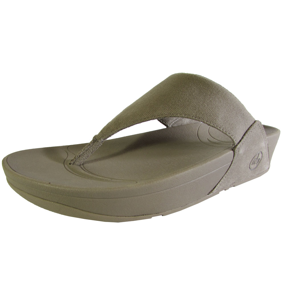 0d40ce4999c7 FitFlop - FitFlop Womens Lulu Canvas Thong Slip On Sandal Shoe - Walmart.com