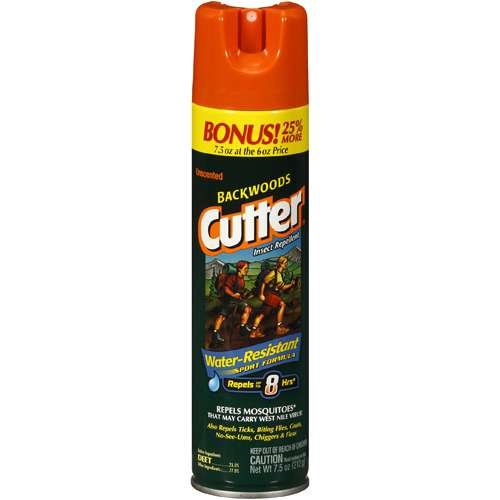 Cutter Unscented Backwoods Insect Repellent, 7.5 oz
