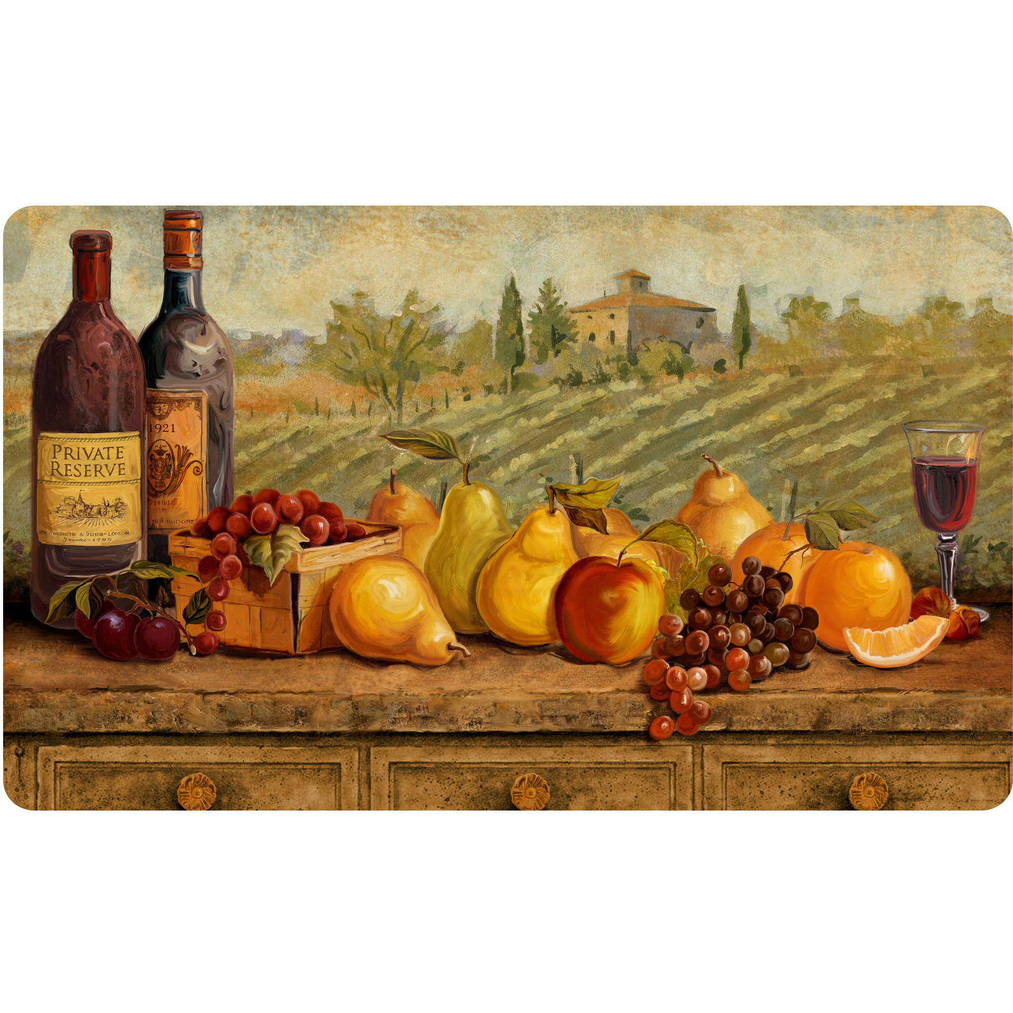 """Better Homes and Gardens Tuscan Wine Comfort Chef Mat, 18"""" x 30"""""""