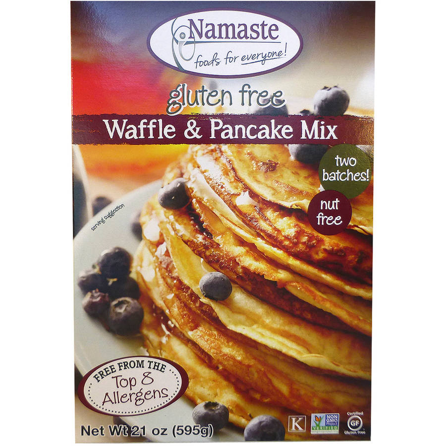 Namaste Foods Waffle & Pancake Mix, 21 oz, (Pack of 6)