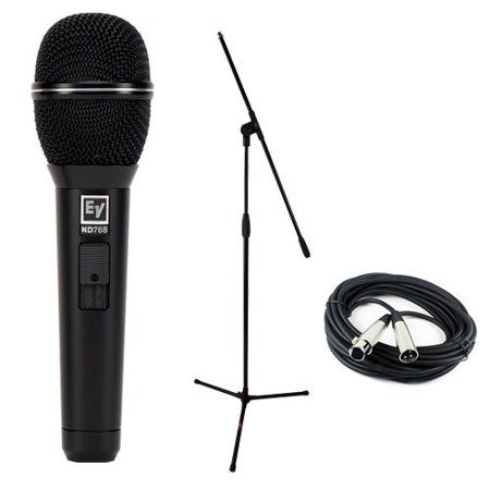 Electro-Voice ND76S Dynamic Cardioid Vocal Microphone w/ Mute/Unmute Switch (Electro Voice Cardioid Dynamic Mic)