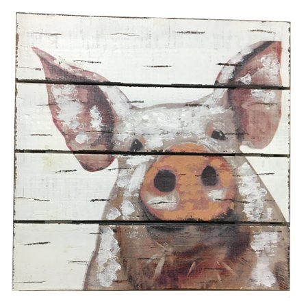 Pig Face Wood Wall Art Home Decoration Theater Media Room