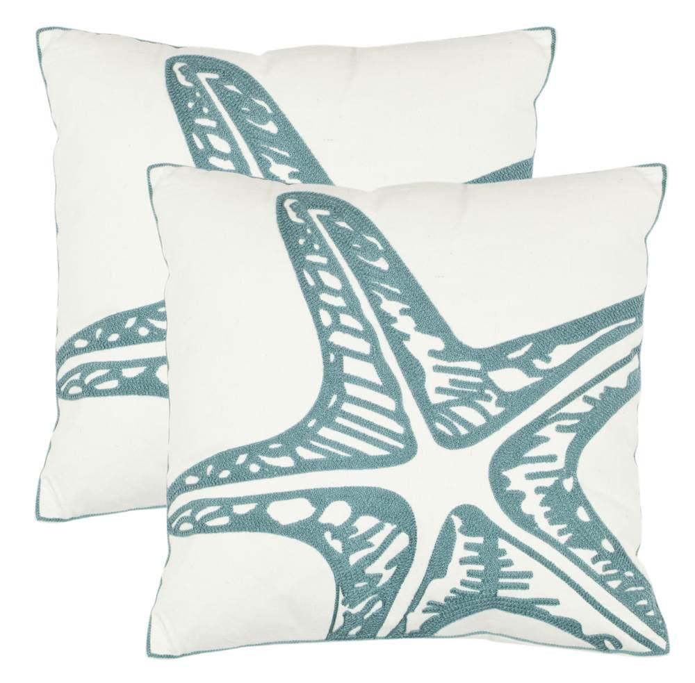 Safavieh Edwin Cotton Decorative Throw Pillow (Set of 2)