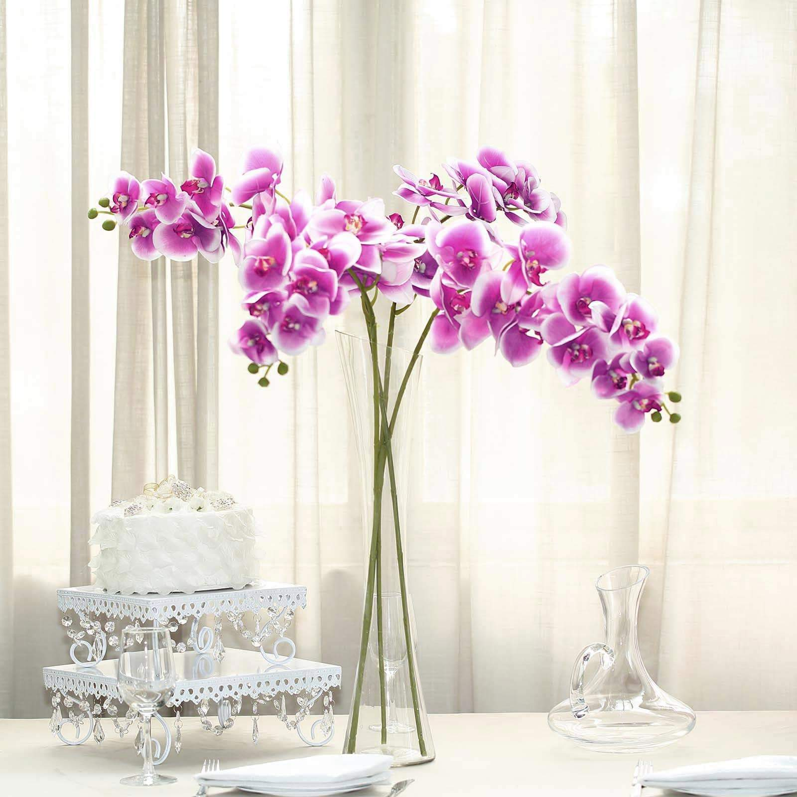 artificial pink orchid flowers in modern vaseArtificial Flowers Special Offer
