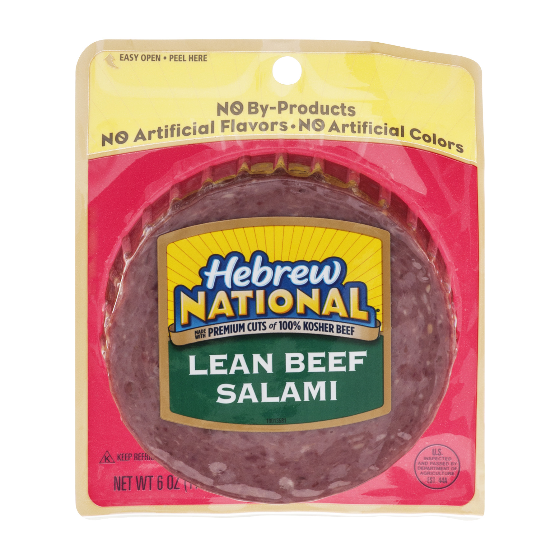 Hebrew National Lean Beef Salami, 6.0 OZ