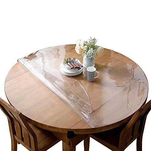 Etechmart Clear Pvc Table Top Protector Round Waterproof Table Cover 42 Dia Walmart Com Walmart Com