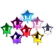 50 pcs 10 Inch Star Balloons, Foil Balloons Party Mylar Balloon Mixed Color for Wedding Birthday Decoration