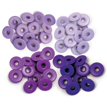 Eyelets Wide 40/Pkg-Purple