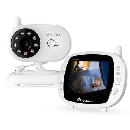 "Tagital Baby Monitor with 3.5"" LCD Display, Two-Way Audio, Night Vision, Temperature Sensor, Lullabies"