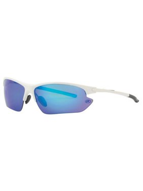 46e80e21dca Product Image Rawlings Mens Athletic Sunglasses Half-Rim White Blue  Mirrored Lens 10203052.QTS